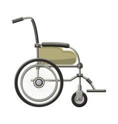 Wheelchair icon in cartoon style vector