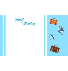 Background travel and holiday vector