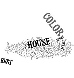Best house color to sell text background word vector