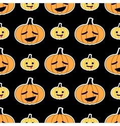 Black halloween pumpkin seamless pattern vector