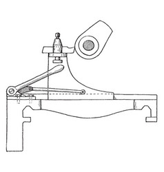 Cam turning attachment for lathe vintage vector