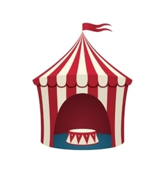 Circus tent isolated on white background vector image vector image