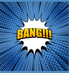 comic bang expression background vector image vector image