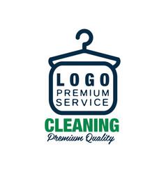 creative logo for dry cleaning or laundry service vector image