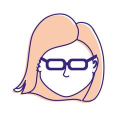 Default avatar woman to social user vector