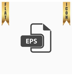 EPS file extension icon vector image