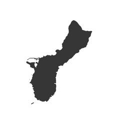 Guam map silhouette vector