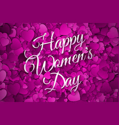 happy womens day abstract background vector image