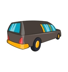 Hearse icon cartoon style vector image vector image