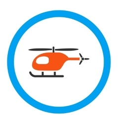 Helicopter Rounded Icon vector image vector image