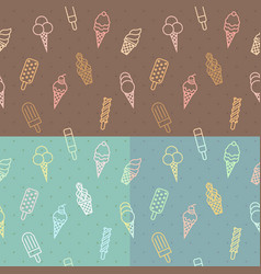 ice cream pattern seamless vector image vector image