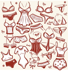 lingerie set vector image vector image