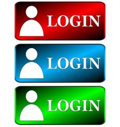 Login icons set vector