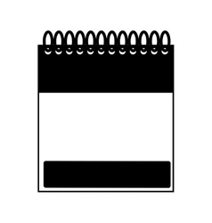 Monochrome notebook spiral with sheets vector