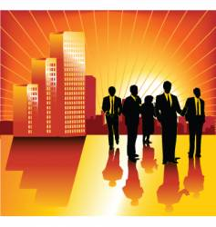 morning business vector image vector image