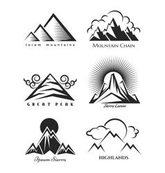 Mountain logo set collection vector image