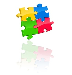 Multicolored jigsaw puzzle vector