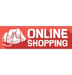 Online Shopping Sign Icon vector image vector image