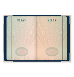 Passport pages for tourist visa identification vector