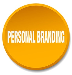 personal branding orange round flat isolated push vector image
