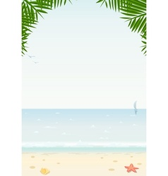 sea and beach vector image vector image
