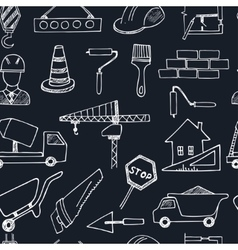 seamless pattern doodle sketch Architecture vector image
