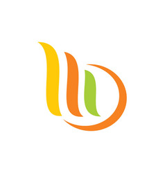 Shape unusual color abstract logo vector