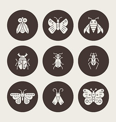 Silhouette bugs vector