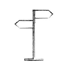 Sketch draw traffic sign cartoon vector