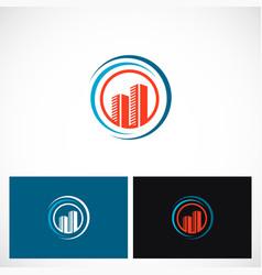 skyscraper building company logo vector image