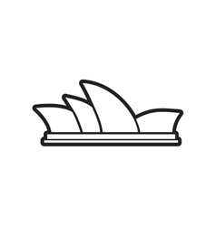 Stylish black and white icon sydney opera house vector