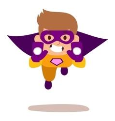 Superhero kid boy cartoon vector image vector image