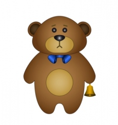 teddy bear a tilde vector image