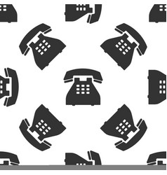 telephone icon seamless pattern landline phone vector image vector image