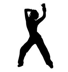 The girl is dancing belly dancing silhouette vector