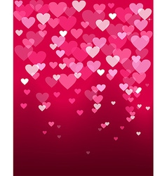 Valentines day heart shape bokeh light love card vector image vector image