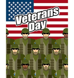 Veterans Day United States military against vector image vector image