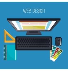 Web design development vector
