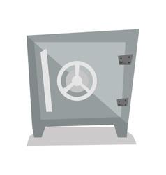 Steel bank safe vector image