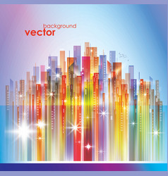 colorful city skyline vector image