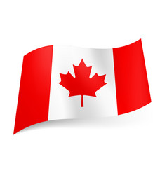 National flag of canada red and white vertical vector