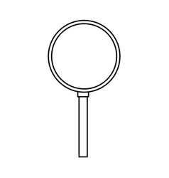 Magnifying glass isolated vector