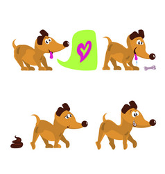 cute dog set vector image