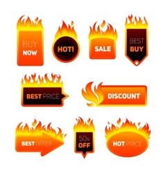 Hot price badges vector