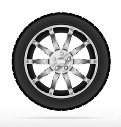 car wheel and tyre vector image