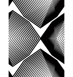 Geometric monochrome stripy seamless pattern black vector