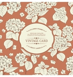 Vintage floral label vector