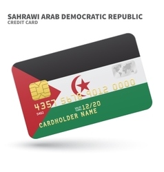 Credit card with sahrawi arab democratic republic vector