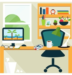 Conceptual template of office room vector