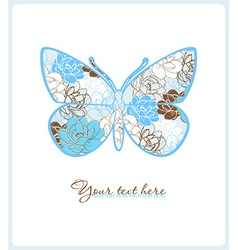 Butterfly design element vector